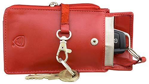 KORUMA KFZ Rot Schlüssel Signal Blocker Case - Keyless Entry FOB Guard Signal blockieren Tasche - Keyless go Schutz Autoschlüssel - Datenschutz Sicherheit