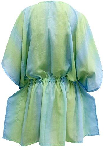 La Leela Frauenbadebekleidung Badeanzug aloha Kaftan Kleid Spitze bestickt  Bademoden Bikini Grün ...