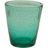 Villa d'Este Home Tivoli Cancun Set 6 Bicchieri Tiffany Vetro, Verde Acqua, 9x9x10 cm