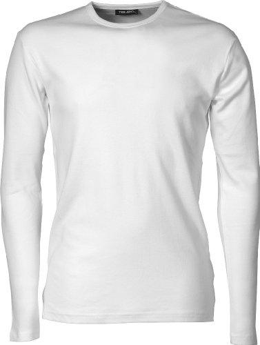 TJ530 Herren Longsleeve Interlock T-Shirt Langarm, Farbe:white;Herrengrößen:L L,White (Langarm-fashion-tee)
