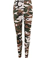 Womens Camouflage Leggings Full Length Long Army Ladies Print Ankle Sizes 8 - 14