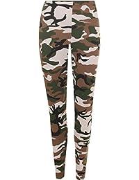 WearAll - Mujer Leggings Elásticos Largos Estampado Camuflaje Tallas 36-42
