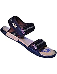 JQR Mens D Brown Soft Cream Outdoor Sandals UK