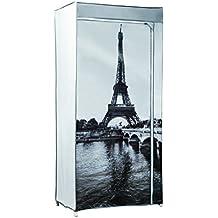 Compactor RAN5943 - Armario de tela y cierre con cremallera, diseño Eiffel Tower