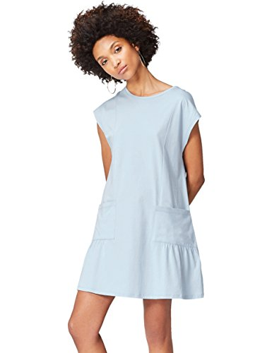 FIND Women's Dress in Jersey with Short Sleeves