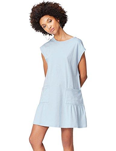 FIND-Vestido-Corto-con-Bolsillos-de-Plastn-para-Mujer