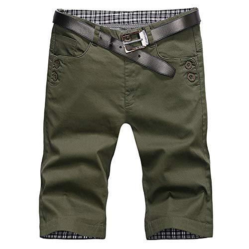 Vendredinoir Homme Pantalon Court Décontracté Short Slim Fit Multi Poches Short De Travail pour Homme (sans Ceinture)