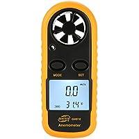 Hermosairis BENETECH GM816 Digital Anemometer Thermometer Windgeschwindigkeit Luftgeschwindigkeit Luftstrom Temperaturanzeige Windmesser mit LCD-Hintergrundbeleuchtung