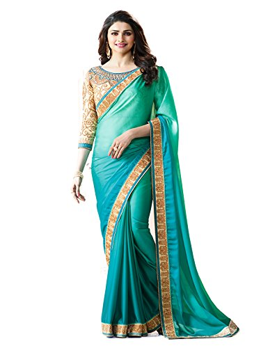 Macube Georgette Saree With Blouse Piece (_Multi-Coloured_Free Size)