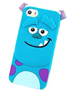 Angelina (TM) Silicone Jelly Skin Fit Case Cover for iPhone 4/4S–Sully Shoulder Support–Disney Monsters University