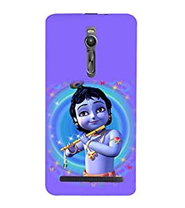printtech Lord God Krishna Small Cartoon Back Case Cover for Asus Zenfone 2::Asus Znfone 2 ZE550ML