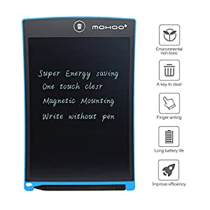 MOHOO 8,5 Zoll LCD-Tablette LCD Schreiben Tabletten Geschenke für Kinder Auge ohne Strahlung Rot Blau Schwarz Blau