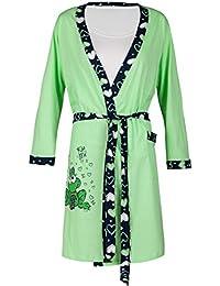 Happy Mama - Camisón de maternidad, diseño de ranas, el pijama y el albornoz a juego se venden por separado, modelo 780p