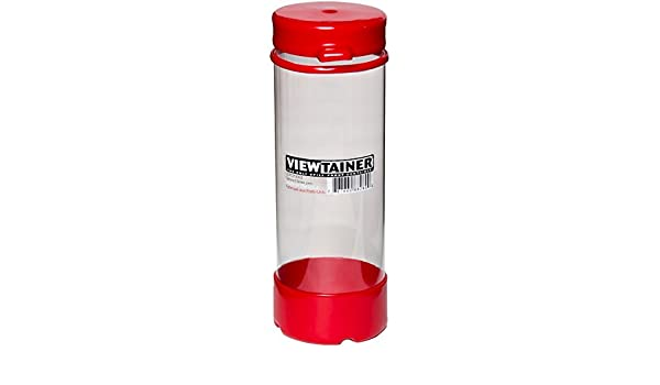 2.75X8, Viewtainer CCRT27508-1 RED Tethered Cap Storage Container