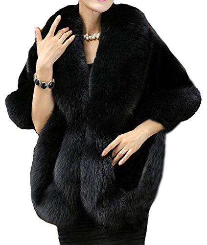 helan-femmes-doux-long-faux-fox-fourrure-chale-noir