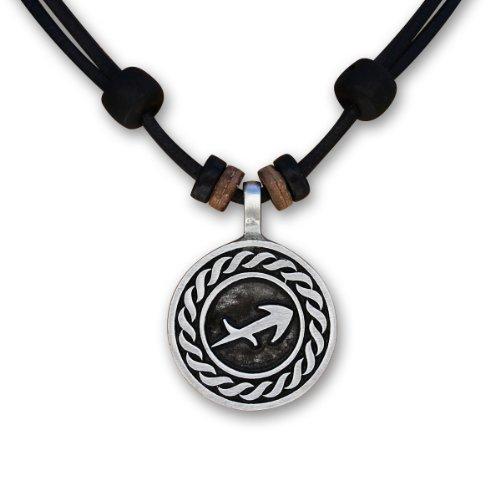 1 von 12 verschiedenen Sternzeichen Tierkreiszeichen an verstellbarer Lederkette Horoskop Horoscope Halskette Surferkette HANA LIMA ® (J - SCHÜTZE / 23. November - 21. Dezember)