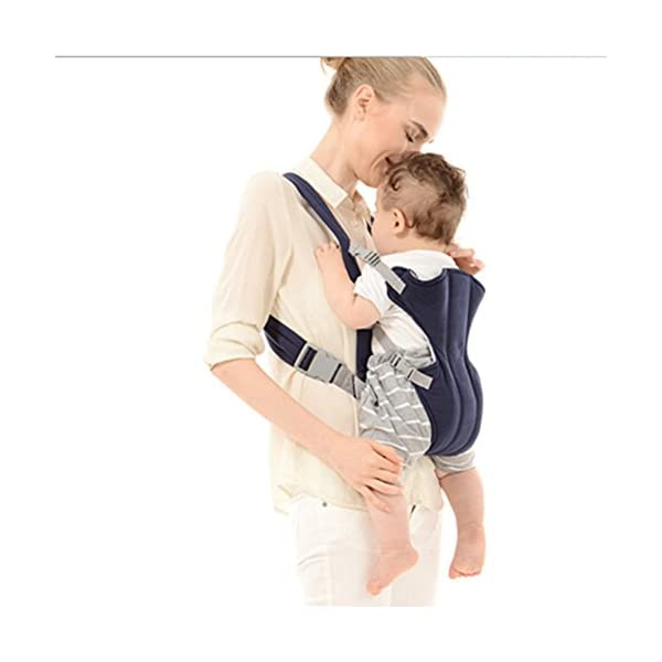 PoeHXtyy Infant Front Facing Slings Breathable Pouch Wraps Carriers Backpacks Suspenders PoeHXtyy BabySteps baby carrier allows you to carry your infant or toddler in any position. The waistband is adjustable to a maximum of 48.8''/124cm. Suitable to be worn by all statures for carrying your baby from 3 months to 36 months, between 8 and 44lbs. Built in ergonomic designed hip seat allows baby to be in a natural sitting position and evenly distribute the weight between carrier's hip and shoulders. Hip seat carrier is equipped with back support and foldable head support to ensure baby's smooth breathing when facing outward. 5