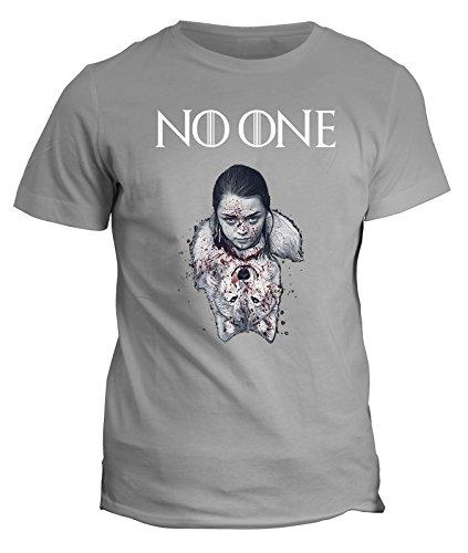 Tshirt No one - Arya Stark - Game of Thrones - Il trono di spade - GOT7 - serie tv - in cotone Grigio