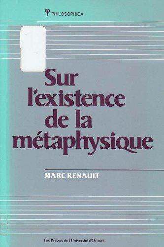 Sur l'existence de la métaphysique