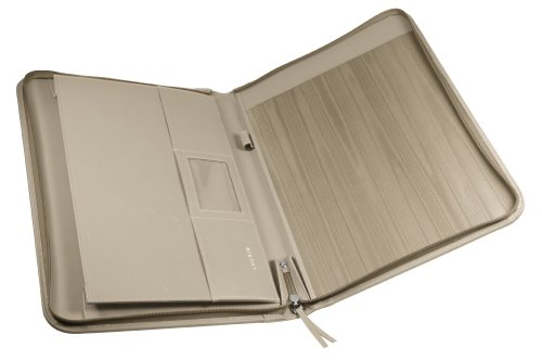 Lucrin OS1036_VCGR_TPC - Cartera para documentos (piel sintética, tamaño A4, cierre con cremallera), color marrón