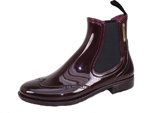 BOCKSTIEGEL® CHELSEA Donna - Mezzo Stivali di gomma alla moda | Chelsea Boots | Impermeabile | Moda | Design esclusivo Burgund
