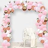 SPECOOL Decoración de cumpleaños en Globos de Oro Rosa, 100 Piezas Rosa Pálido Oro Rosa Blancos de Oro de Globos,Globo de Fiesta Decoraciones para Boda, Cumpleaños, Baby Shower,Ceremonia