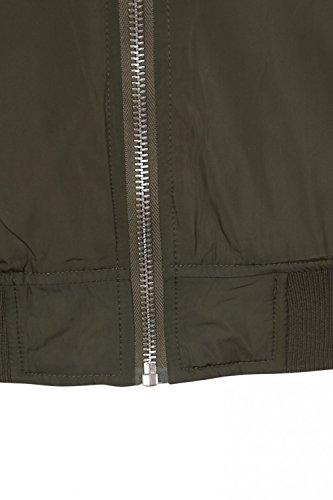 Dissident - Blouson - Teddy - Uni - Col Chemise Classique - Manches Longues - Homme Amazon Khaki - Green