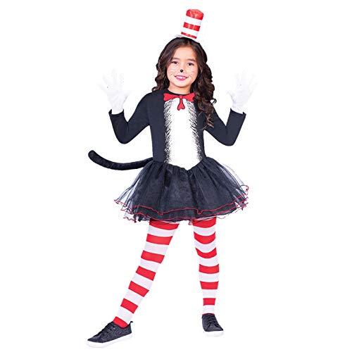 Dr. Seuss Kater mit Hut Kleid - Kostüm Kinder ()
