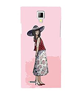 FUSON Fashionable Woman In A Pink 3D Hard Polycarbonate Designer Back Case Cover for Micromax Canvas Xpress A99 :: Micromax A99 Canvas Xpress