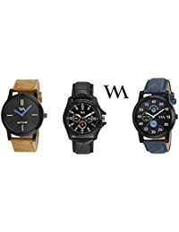 Watch Me Gift Combo Set For Him/Watches For Men/Watches For Boys (watches 3 Combo/watches 2 Combo) WMC-002-BR-AWC... - B0778QVHN8