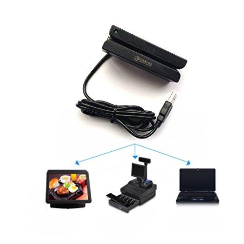 OSAYDE® MSR90 USB SchwarzMagnetstreifenKartenlesegerätKartentypen ISO7811/1-6 ISO7812 ABA IBM757/755 AMMVA CADMV Gerät mit USB2.0 AM Datenkabel