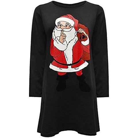 Reasoncool Vestito, Rotonda sexy delle donne del collare modo del vestito a maniche lunghe Babbo Natale