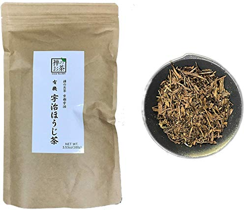 Zen no Ocha Hojicha Tea - Japanese Loose Leaf Organic Green Tea 3.53oz 100g (Made in Kyoto Uji Japan)
