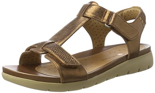 Clarks Damen Un Haywood T-Spange, Gold (Bronze Metallic), 38 EU
