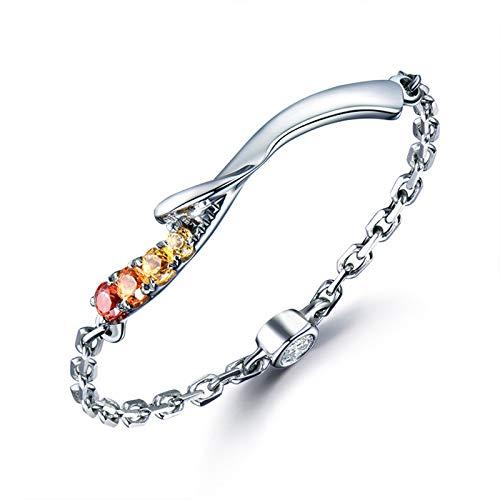 Blisfille Solitärring 18k Gold Damen Ring Natürliche Saphir 0.07 Karat Diamant Trauringe Eheringe Hochzeit Verlobung für Damen Ring Gr. 59 (18.8) Juwelen
