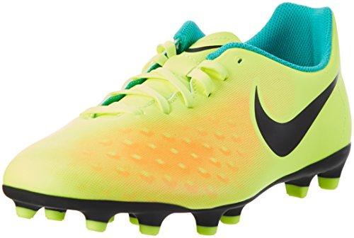 Nike - Magista Ola Ii Fg, Scarpe da calcio Uomo, Giallo (volt/black-total Orange-clear Jade), 42.5 EU