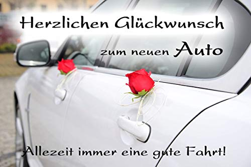 Yabue Auto Foto-Karte Grußkarte Glückwunsch Gute Fahrt 16x11cm