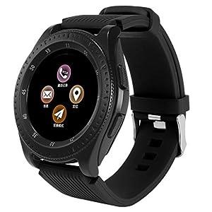 Dkings Bluetooth Smartwatch Fitness Uhr Intelligente Armbanduhr Fitness Tracker Smart Watch Sport Uhr mit Kamera Schrittzähler Schlaftracker Kompatibel mit Android Smartphone