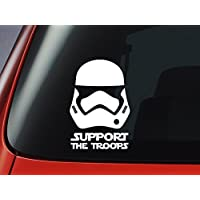 Star Wars First Order Stormtrooper 'Support The Troops' - Vinyl Decal - Car, Window, Wall, Laptop Sticker by Level 33 Ltd