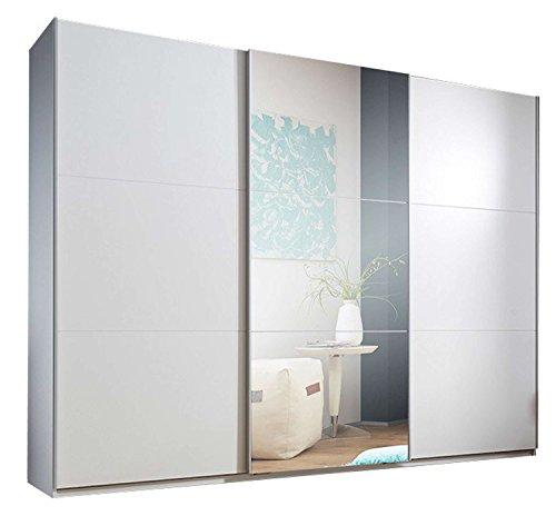Avanti trendstore - marvin - armadio ad ante scorrevoli con quella centrale specchiata, in legno laminato bianco. offre molto spazio. dimensioni lap 270x210x60 cm