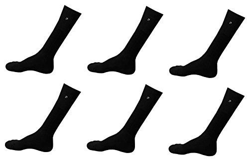 6 paia calzettoni basket spugna PIERRE CARDIN 40-46 calza lunga (nero)