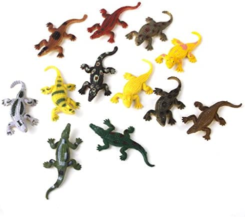 B Blesiya 12 Pcs Pcs Pcs Mini Crocodile en Plastique Modèle Figure Collection Animal  s Partie Faveur Jouet   Porter-résistance  b7bc5e