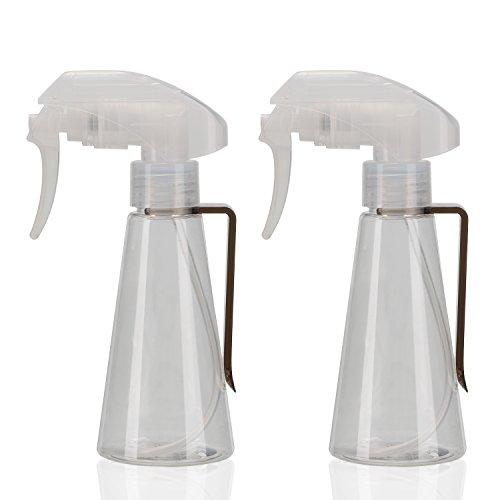Segbeauty® 2pcs Transparentes Botella de Spray Súper Multa Niebla, 100ml Disparador de Mano Pulverizador para Plantas de Riego, Frascos de Spray Vacíos Pelo Húmedo Mascotas Limpias