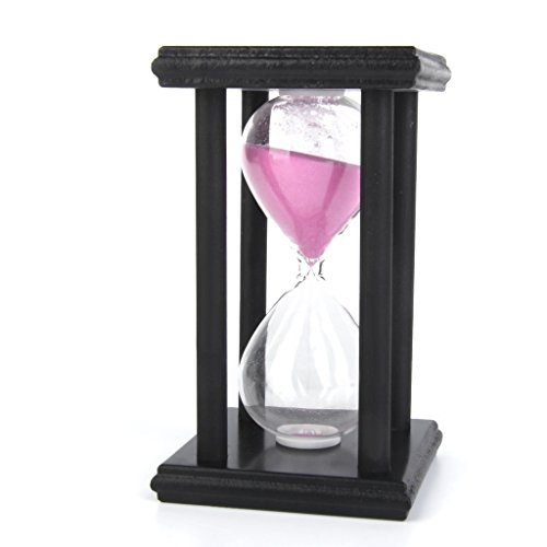 Generic 30 Min Wooden Sand Clock Sandglass Hourglass Timer for Gift/Decoration Pink