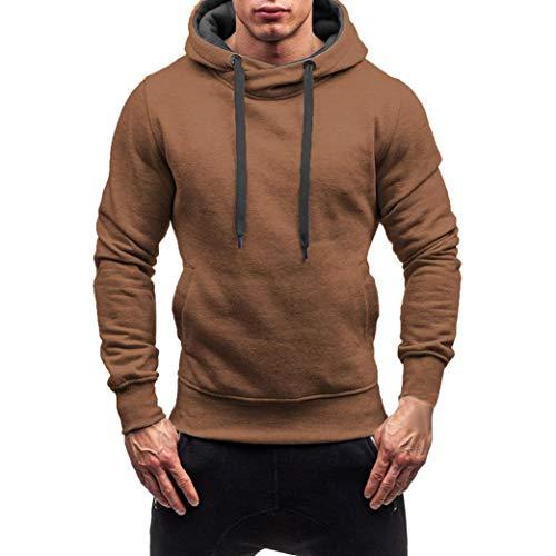 (Hoodie Männer,Sannysis Herren Herbst Winter Solid Kapuzen Sweatshirt Outwear Tops Bluse/Jacke Jorstorm Sweat Zip Hood Basic Kapuzenpullover)