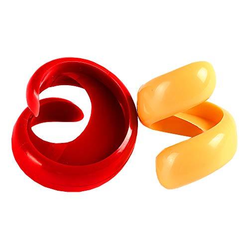 Mein HERZ 2 pcs originelles Grillzubehör zum einschneiden für Grill- und Bratwürste Wurst Cutter Küche Tools Spirale Hot Dog Schere Home DIY Wurst Schneide Gadget