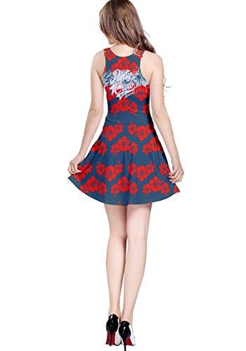 CowCow Damen Kleid Violett Violett - Red Hawaii 2