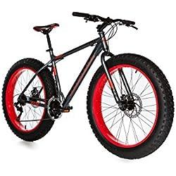 """Moma Bikes Bicicleta Montaña FAT 26"""" Alu, SHIMANO 21V, Doble Freno Disco. (Varias Tallas)"""