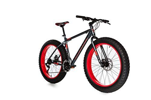 Moma Bikes Fat Bike 26 x 4.0 Alluminio Shimano 21 V Bicicletta, Unisex Adulto, Grigio, Sì