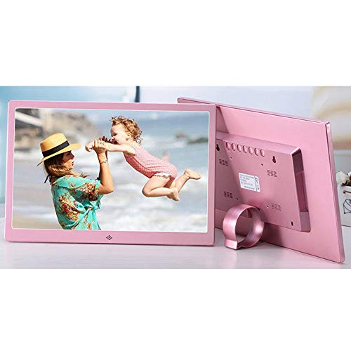 TONGTONG 15 Zoll 1280 * 800 HD Touch Screen Digital Photo Frame Alarm Clock Movie Player,Pink (Touch-screen Frame Digital Photo)
